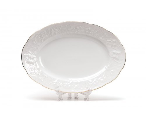Tunisie Porcelaine Vendange Filet Or Блюдо овальное, 28 см
