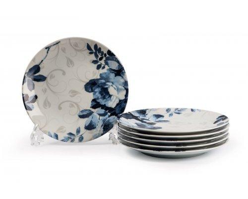 Tunisie Porcelaine Monalisa Jardin Bleu 1780 набор десертных тарелок 21см на 6 персон