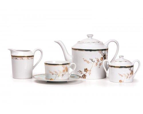 Tunisie Porcelaine Zen Belle epoque 2130 чайный сервиз на 6 персон 15 предметов