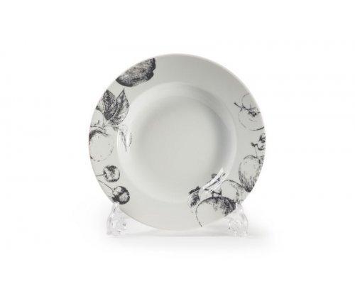 Тарелка глубокая Д22см Tunisie Porcelaine Black apple 2241