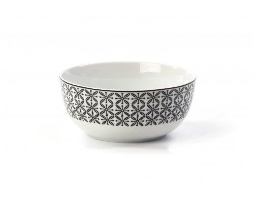Салатник 13 см Tunisie Porcelaine Черный Ажур