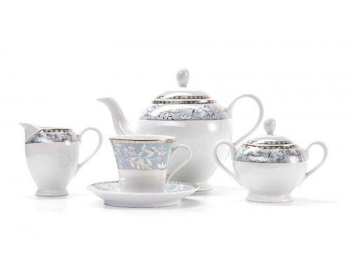 Сервиз чайный на 6 персон 15 предметов Tunisie Porcelaine Classe 1596