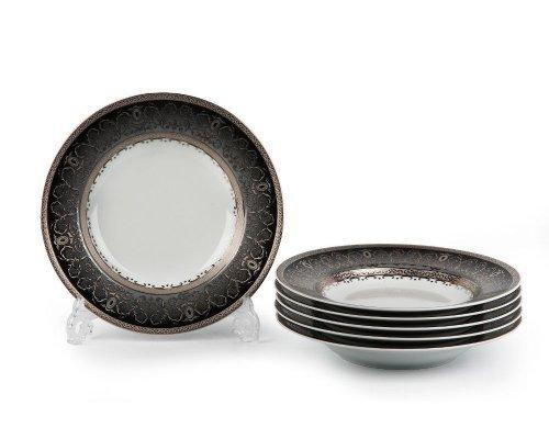 Tunisie Porcelaine Mimosa Prague Gris 1743 набор тарелок глубоких на 6 персон