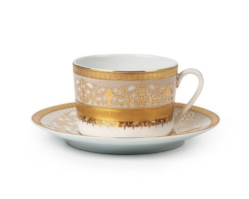 Tunisie Porcelaine Mimosa Didon Or 1645 набор чайных пар на 6 персон
