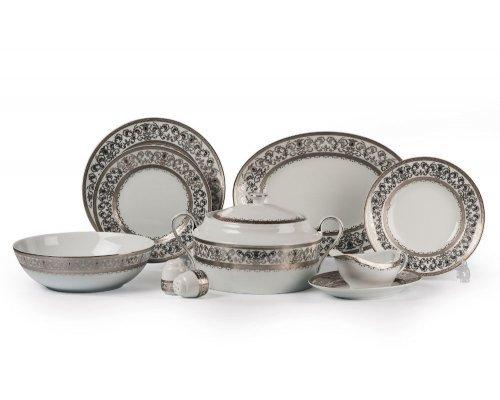 Tunisie Porcelaine Mimosa Prague Platine 1647 столовый сервиз на 6 персон 25 предметов