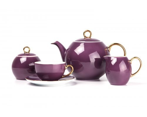 Tunisie Porcelaine Monalisa Rainbow Or 3124 чайный сервиз на 6 персон 15 предметов