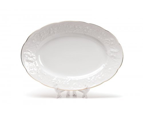 Tunisie Porcelaine Vendange Filet Or Блюдо овальное, 36 см
