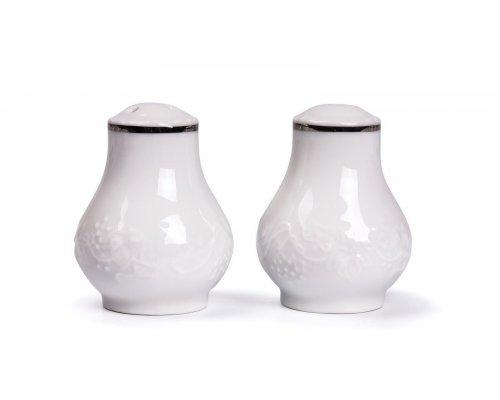 Tunisie Porcelaine Vendange Filet Platine Солонка, V 50 мл