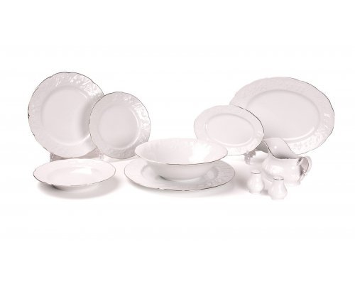 Tunisie Porcelaine Vendange Filet Platine Сервиз столовый, 25 пр