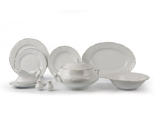 Tunisie Porcelaine Vendange Filet Or Сервиз столовый, 25 пр