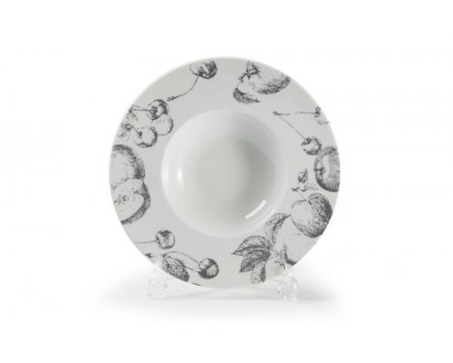 Тарелка глубокая широкий борт, Д27см Tunisie Porcelaine Black apple 2241