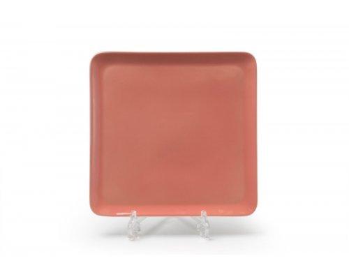 Тарелка квадратная 25см Tunisie Porcelaine Yaka rose 2228