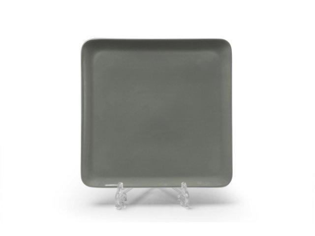 Тарелка квадратная 25см Tunisie Porcelaine Yaka gris 3064