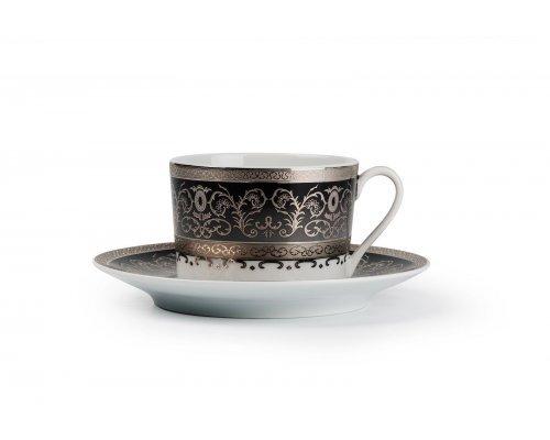 Tunisie Porcelaine Mimosa Prague Gris 1743 набор чайных пар на 6 персон