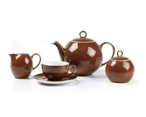 Tunisie Porcelaine Monalisa Rainbow Or 3126 чайный сервиз на 6 персон 15 предметов