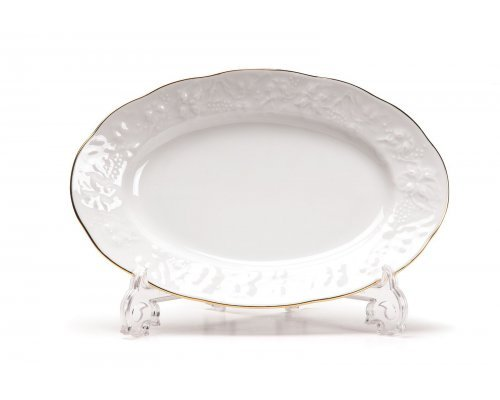 Tunisie Porcelaine Vendange Filet Or Блюдо овальное, 24 см