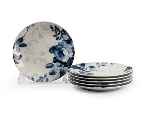 Tunisie Porcelaine Monalisa Jardin Bleu 1780 набор тарелок 27см. на 6 персон