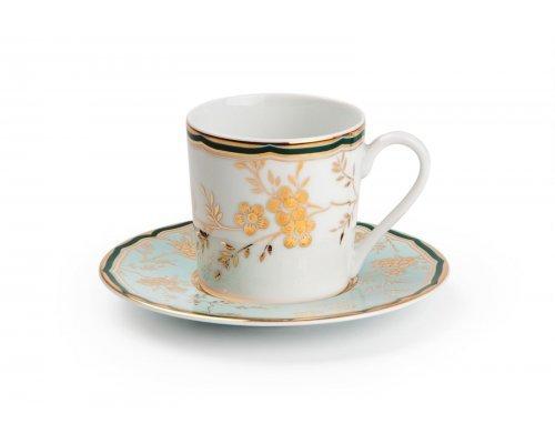 Tunisie Porcelaine Zen Belle epoque 2130 набор кофейных пар на 6 персон