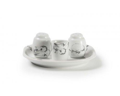 Набор для специй 4 пр Tunisie Porcelaine Black apple 2241