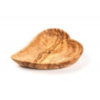 Салатник в виде сердца средний из оливкового дерева Tunisie Porcelaine 17 см