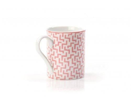 Кружка 300 мл Tunisie Porcelaine Розовый Лабиринт