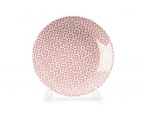 Тарелка 27 см Tunisie Porcelaine Розовый Лабиринт