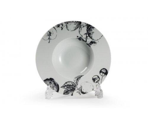 Тарелка глубокая, V200мг, Д23,1см Tunisie Porcelaine Black apple 2241