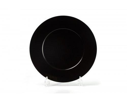 Блюдо круглое 31см Tunisie Porcelaine Putoisage noir 3063