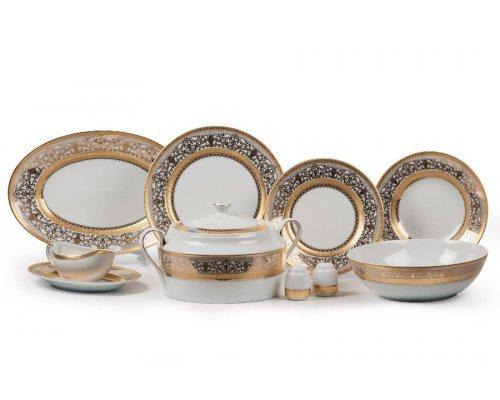 Tunisie Porcelaine Mimosa Didon Or 1645 столовый сервиз на 6 персон 25 предметов