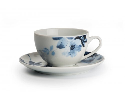 Tunisie Porcelaine Monalisa Jardin Bleu 1780 набор набор чайных пар 210 мл. на 6 персон