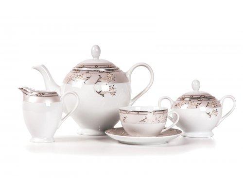 Tunisie Porcelaine Isis Mugets Du Paradie 1558 чайный сервиз на 6 персон 15 предметов