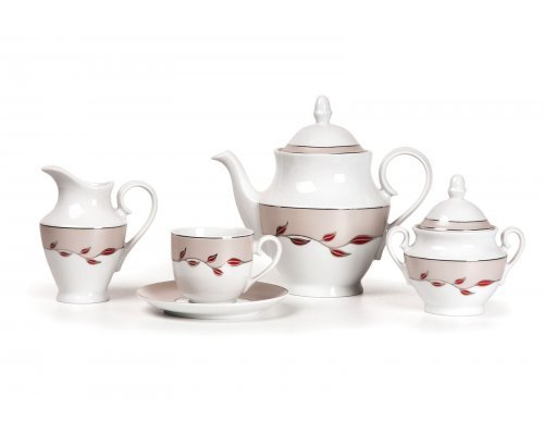 Tunisie Porcelaine Tanit Elite Platine 1570 чайный сервиз на 6 персон 15 предметов
