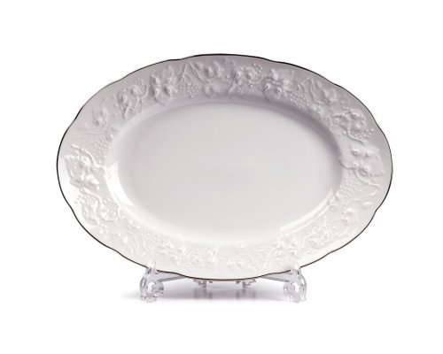 Tunisie Porcelaine Vendange Filet Platine Блюдо овальное, 36 см