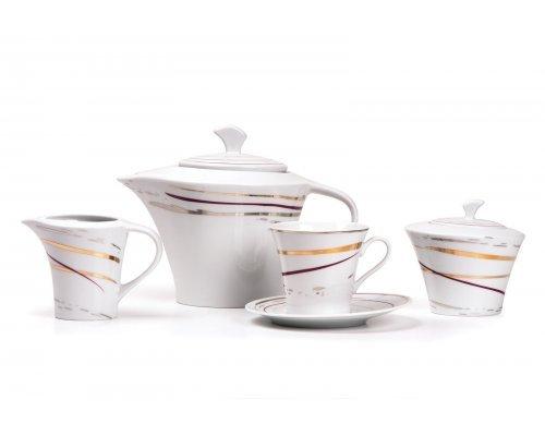 Tunisie Porcelaine Asymetrique Traces 1669 чайный сервиз на 6 персон 15 предметов