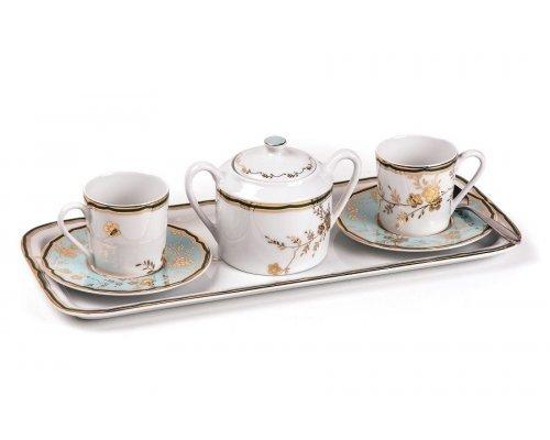 Tunisie Porcelaine Zen Belle epoque 2130 Кофейный набор на 2 персоны