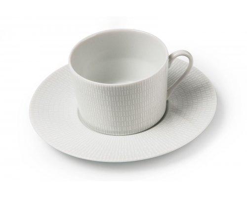 Tunisie Porcelaine Zen Asymetrie Blanc 2161 набор чайных пар на 6 персон