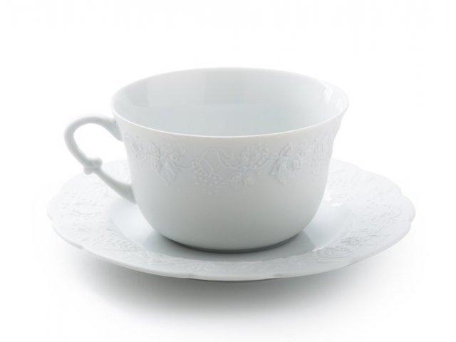 Чашка с блюдцем 340 мл. BLANC Vendange MAT
