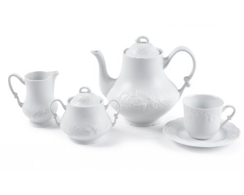 Сервиз чайный на 6 персон 15 предметов BLANC Vendange MAT