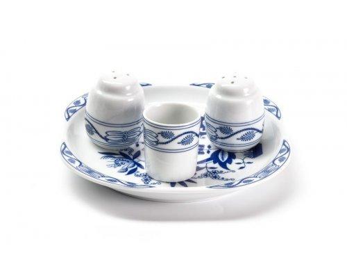 Набор для специй 4 пр Tunisie Porcelaine Синий Лук 1313