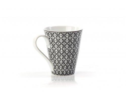Кружка 300 мл Tunisie Porcelaine Черный Ажур