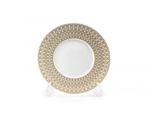Тарелка 21 см Tunisie Porcelaine Золотой Ажур