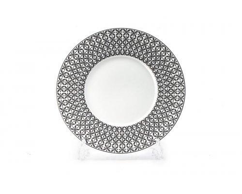 Тарелка 27 см Tunisie Porcelaine Черный Ажур