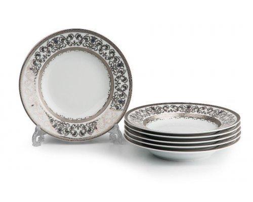 Tunisie Porcelaine Mimosa Prague Platine 1647 набор глубоких тарелок 27 см. на 6 персон