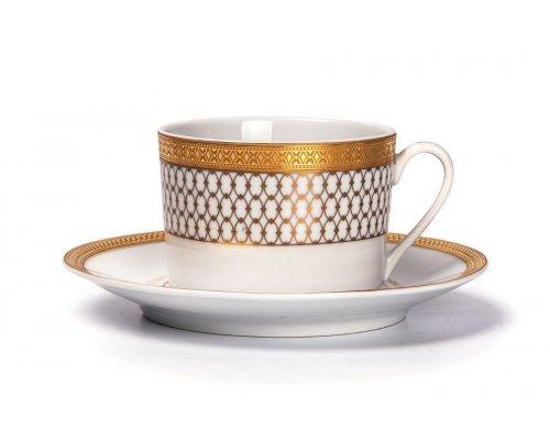 Tunisie Porcelaine Tanit Victoire Or 1488 набор чайных пар 220 мл на 6 персон 12 предметов