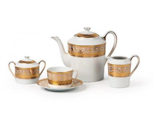 Tunisie Porcelaine Mimosa Didon Or 1645 чайный сервиз на 6 персон 15 предметов