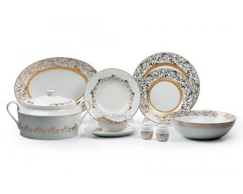 Tunisie Porcelaine Mimosa Lierre Or 947 столовый сервиз на 6 персон 25 предметов