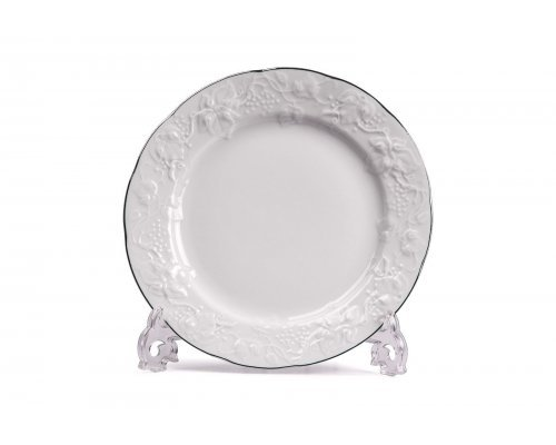 Tunisie Porcelaine Vendange Filet Platine Тарелка 26 см