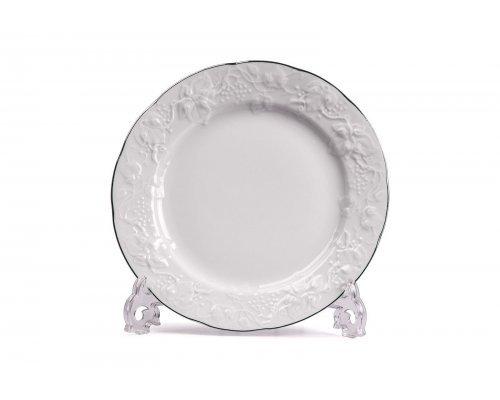 Тарелка Tunisie Porcelaine Vendange Filet Platine 26 см