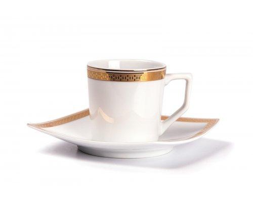 Tunisie Porcelaine Kyoto Saint Germain Or 1555 набор кофейных пар на 6 персон