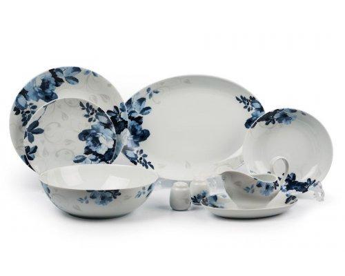 Tunisie Porcelaine Monalisa Jardin Bleu 1780 столовый сервиз на 6 персон 24 предмета